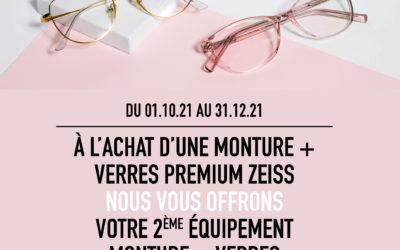 Une monture complète en cadeau chez votre opticien EnVue*